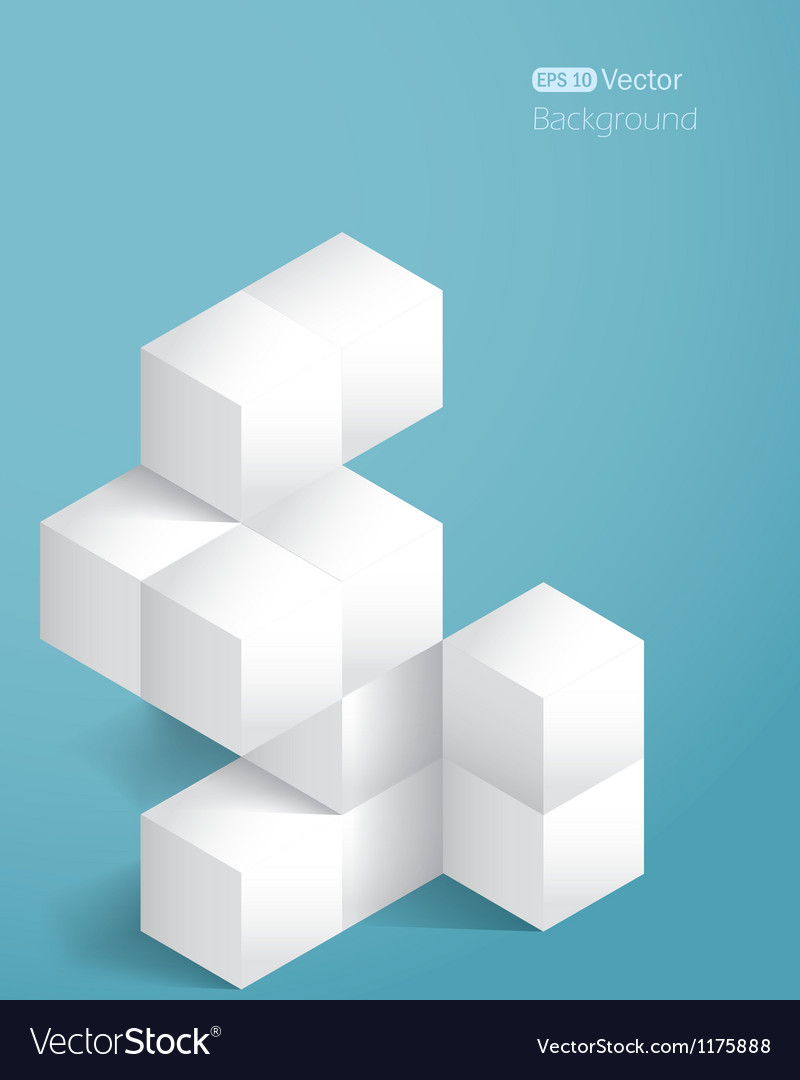 Realistic background with cubes vector image