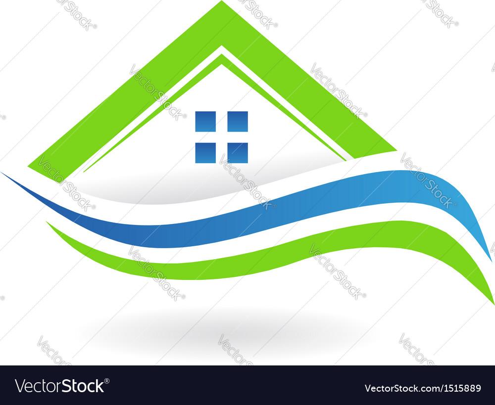House Swoosh Icon Logo vector image