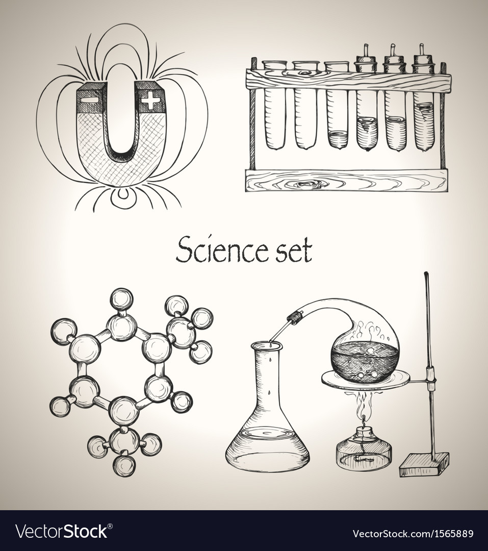 Science set vector image