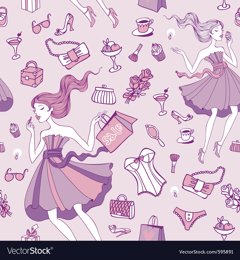 Female happiness vector image