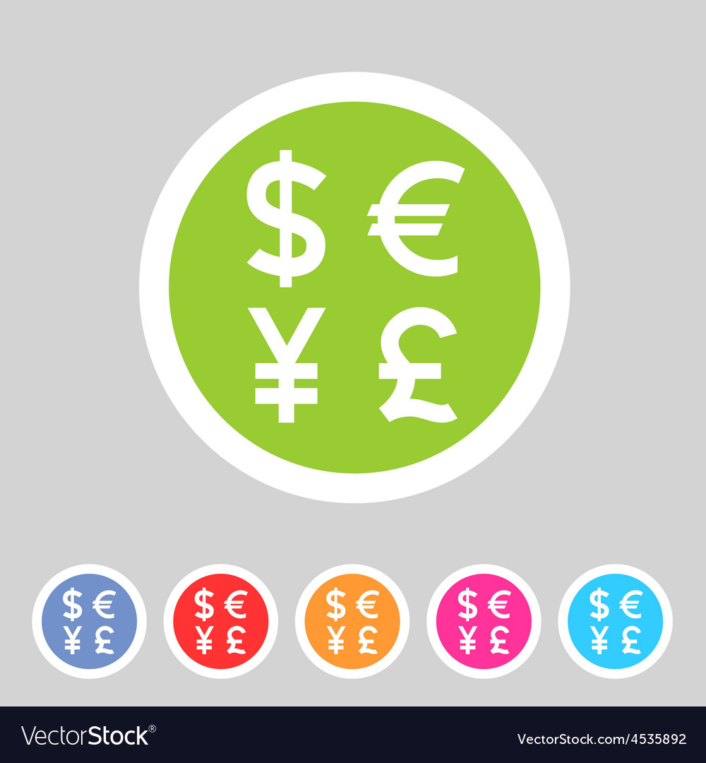Currency exchange sign icon converter symbol money currency exchange sign icon converter symbol money vector image biocorpaavc Gallery