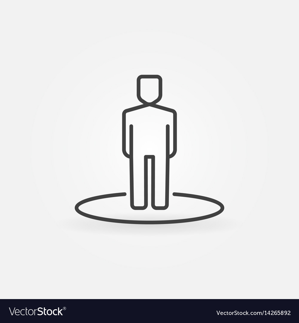 Man line icon vector image