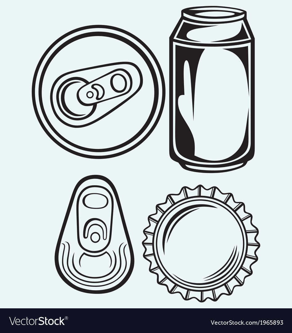 Bottle cap beer vector image