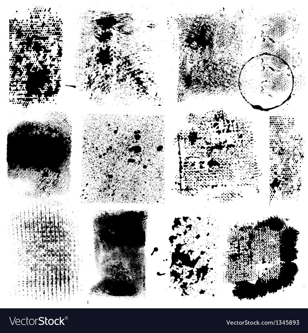 Grunge Textures vector image