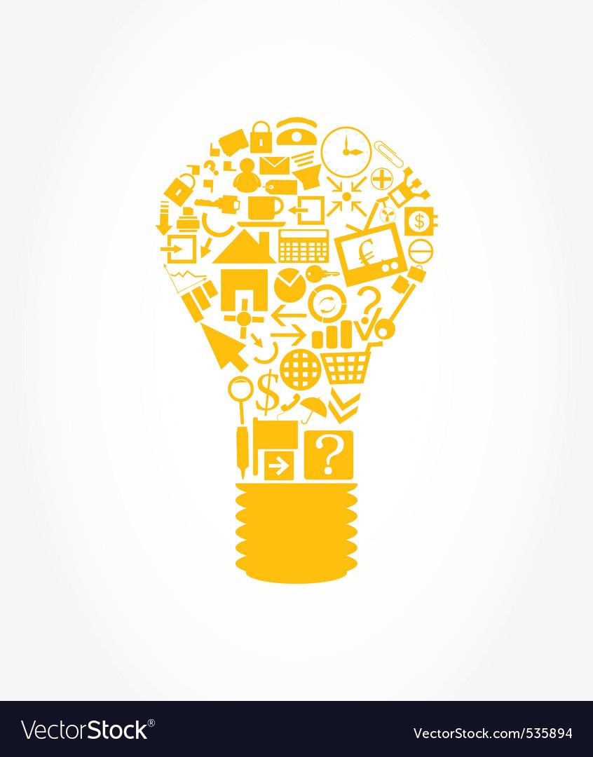 Office light bulb vector image