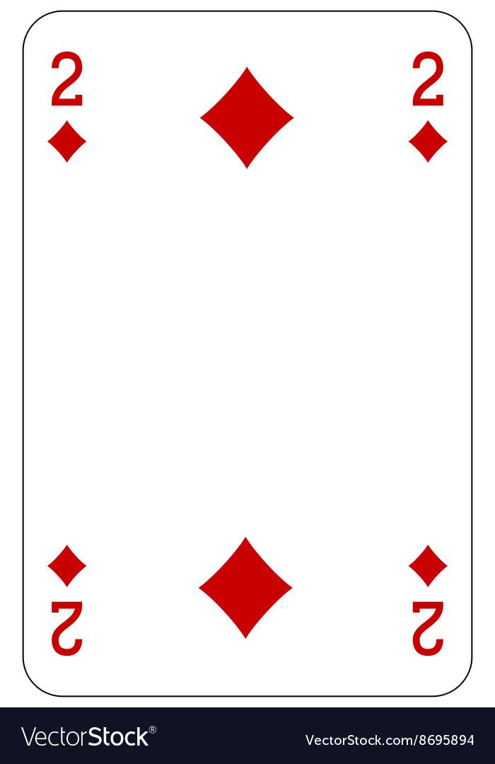 Poker playing card 2 diamond vector image