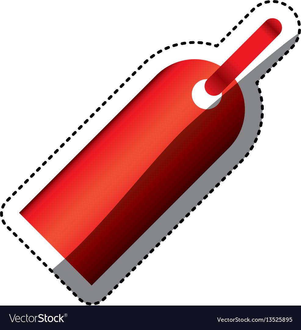 Color tag sign icon vector image