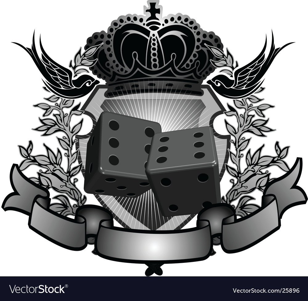 Gambler sign vector image