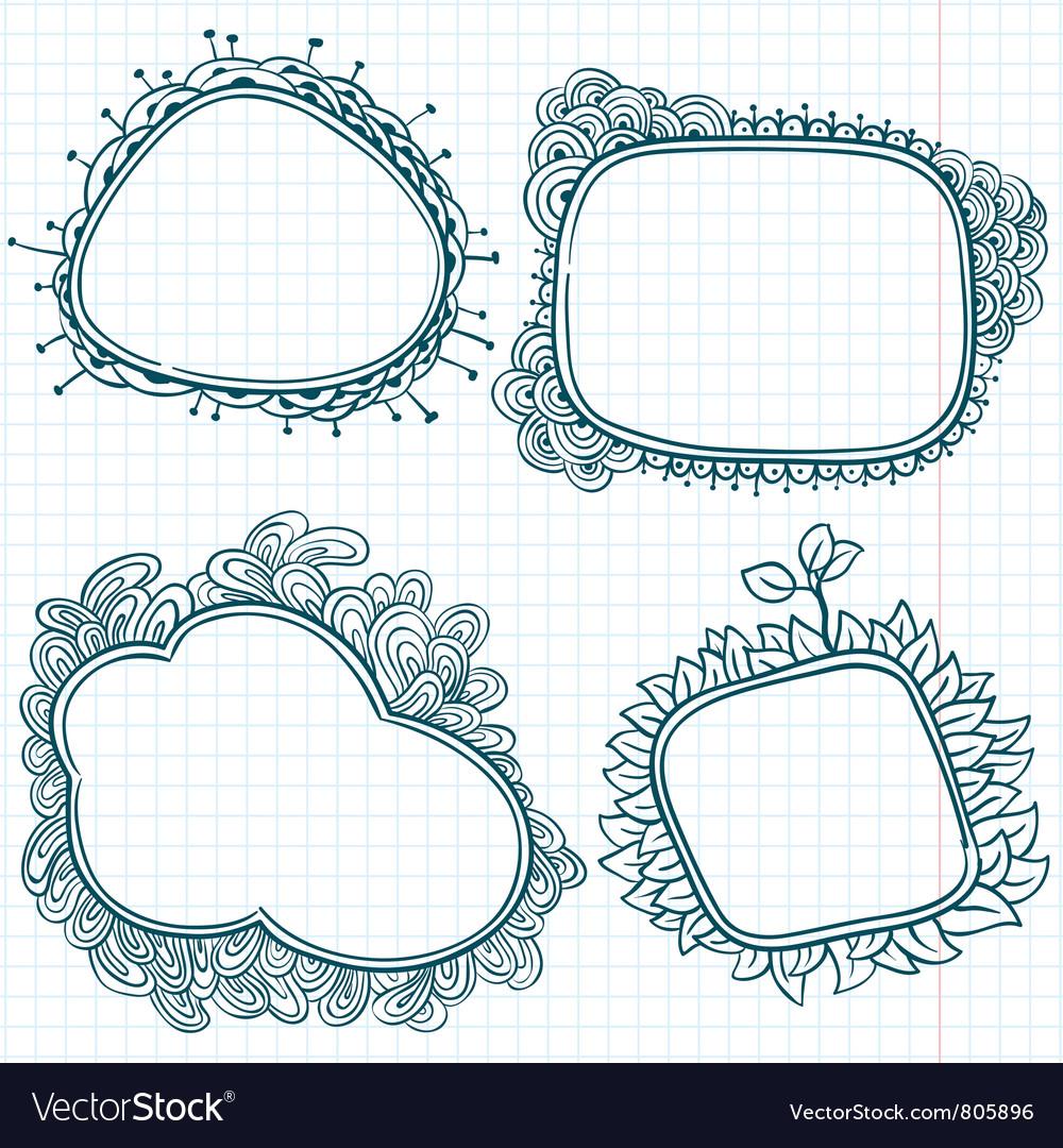Sketchy doodle frames vector image