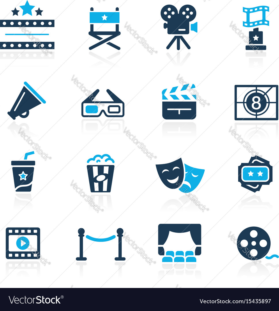 Film industry and theater icons vector image