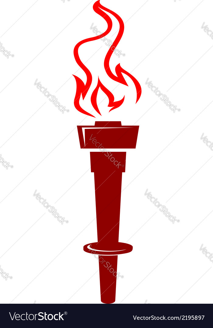 Flaming torch icon vector image