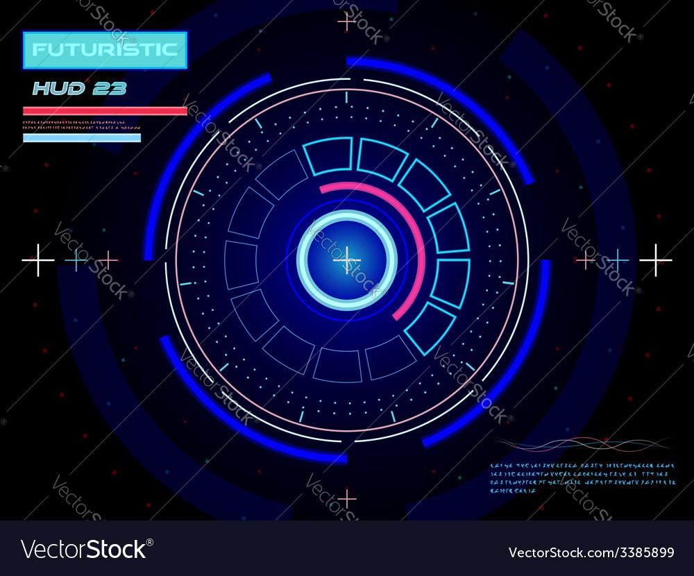 Futuristic user interface HUD vector image