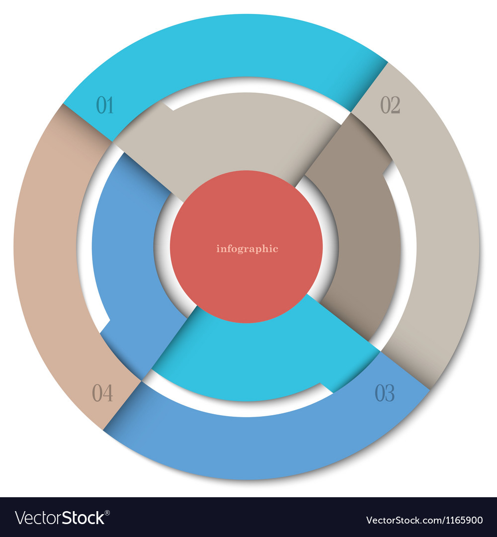 Modern round design template for infographics vector image