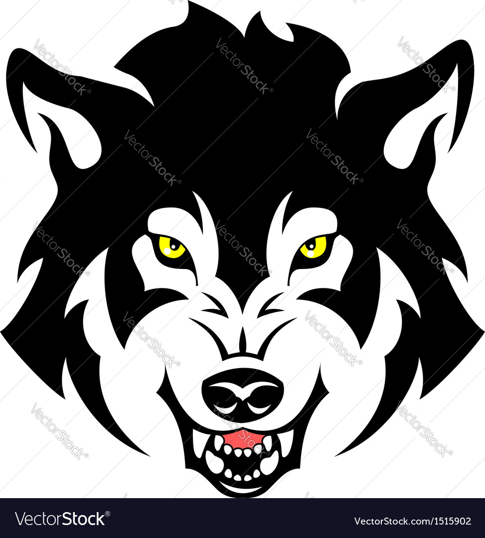 angry wolf royalty free vector image   vectorstock