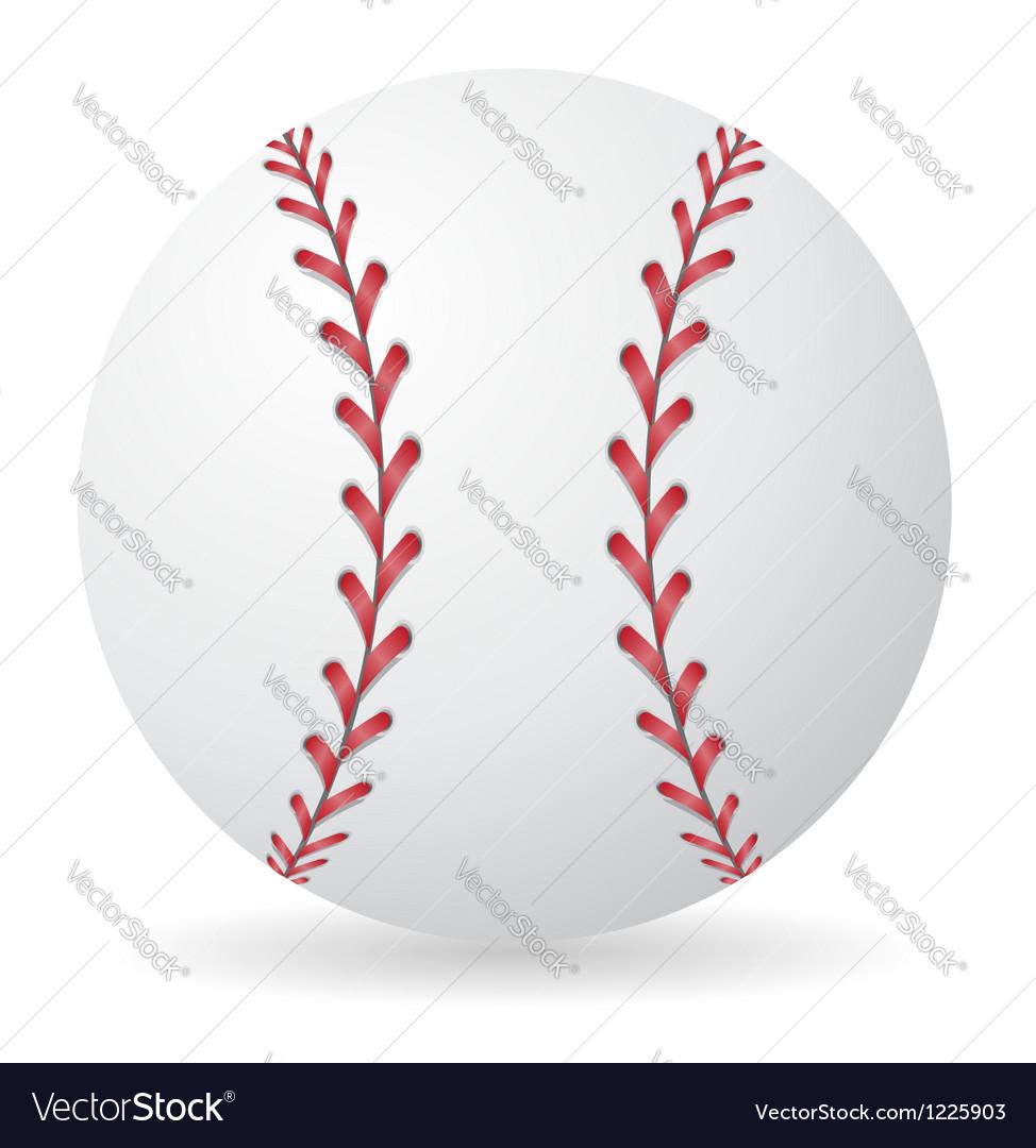 Baseball 01 vector image