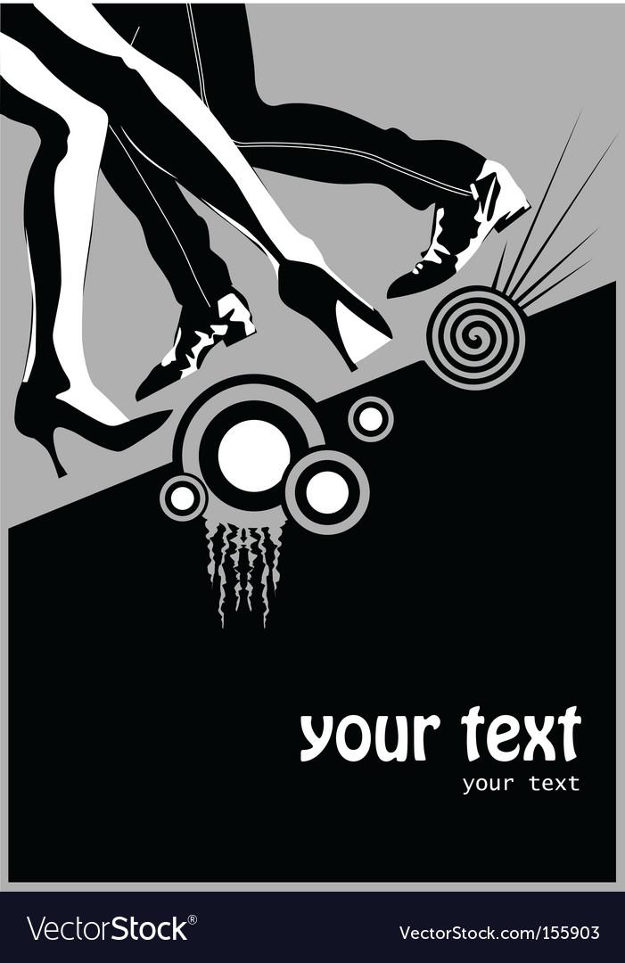 Dancing poster vector image