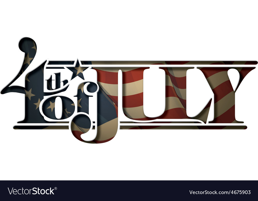 4th of july cut out betsy ross vector image