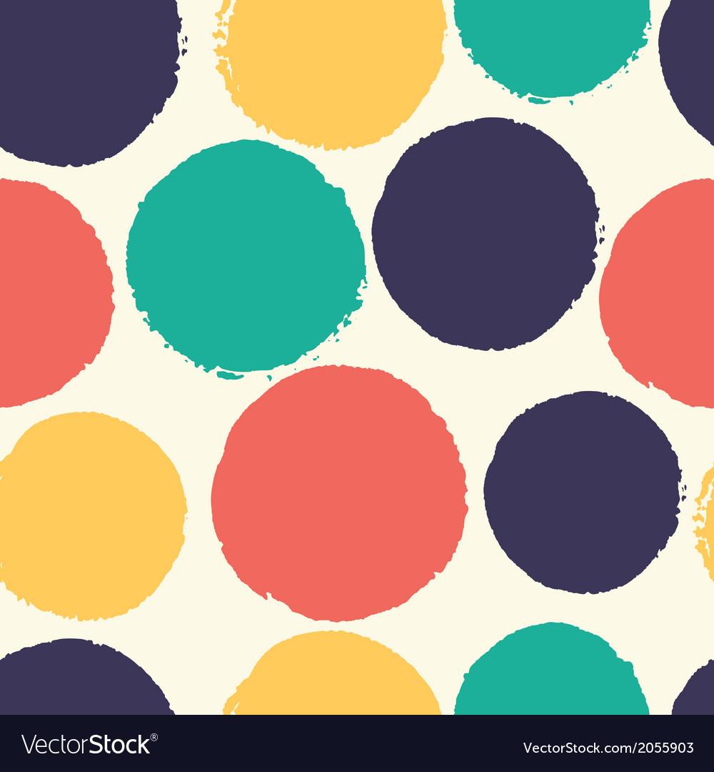 Watercolor polka dots vector image