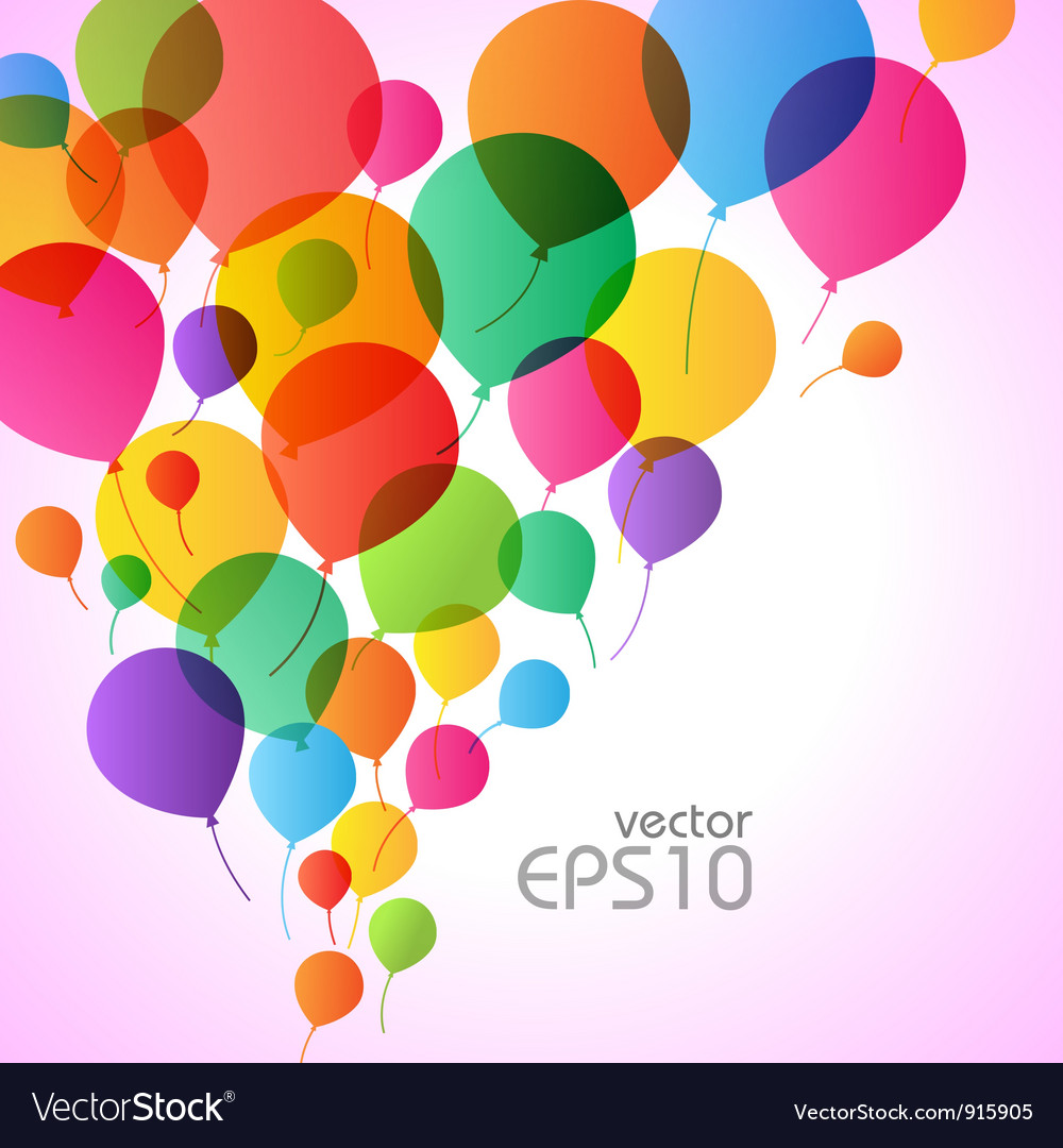Balons background vector image