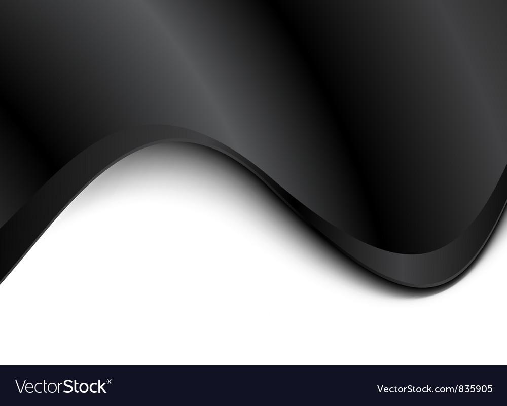 Black light wave background vector image