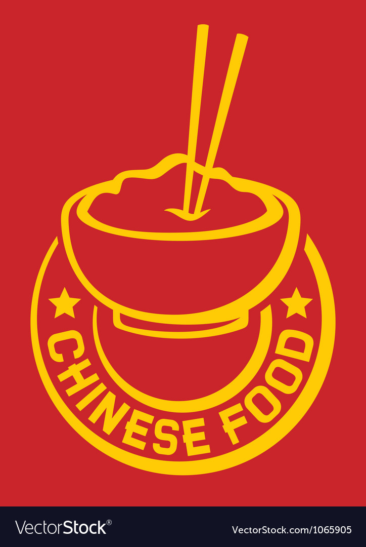 Chinese food and chopsticks vector image