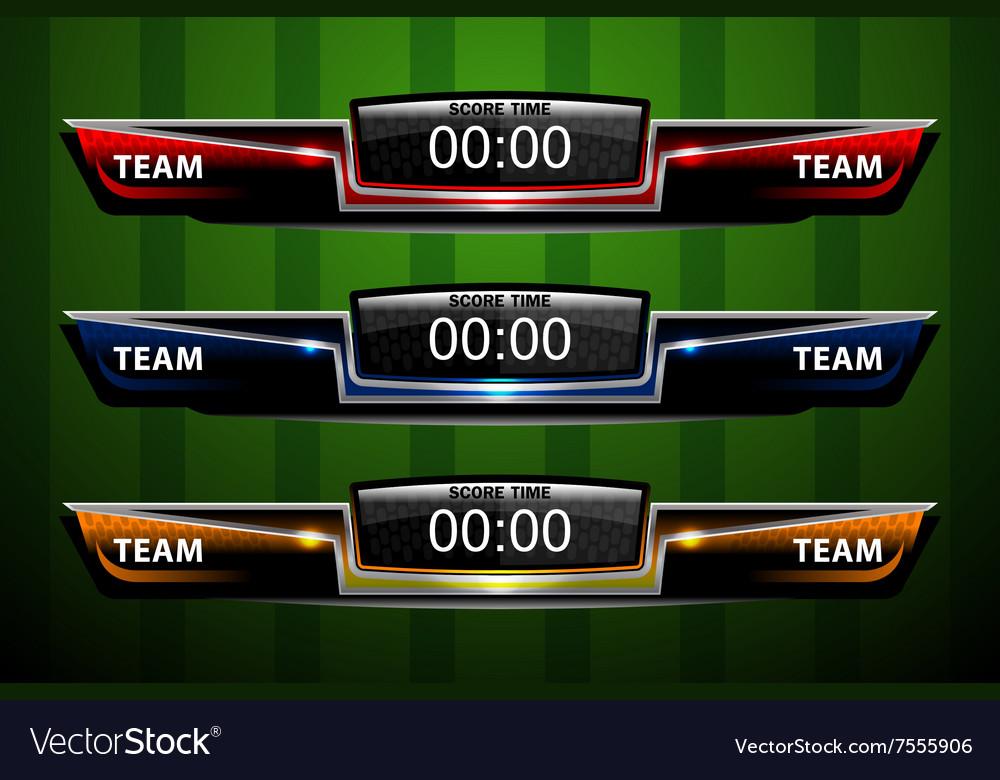 Sport Scoreboard Template Royalty Free Vector Image