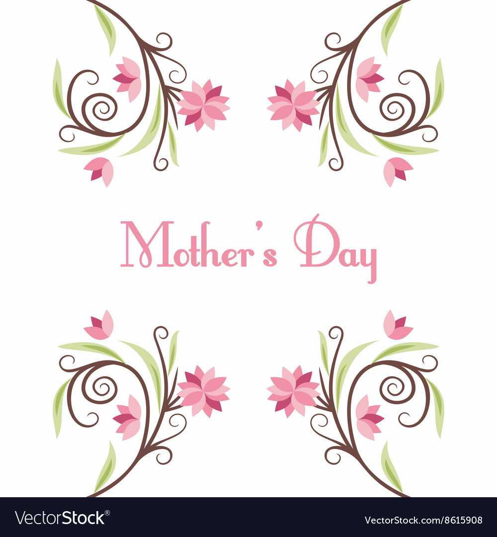 Happy mothers day hand drawn greeting card with vector image happy mothers day hand drawn greeting card with vector image kristyandbryce Gallery