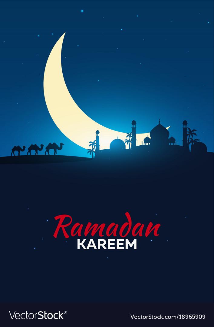 Ramadan kareem ramadan mubarak greeting card vector image m4hsunfo Choice Image