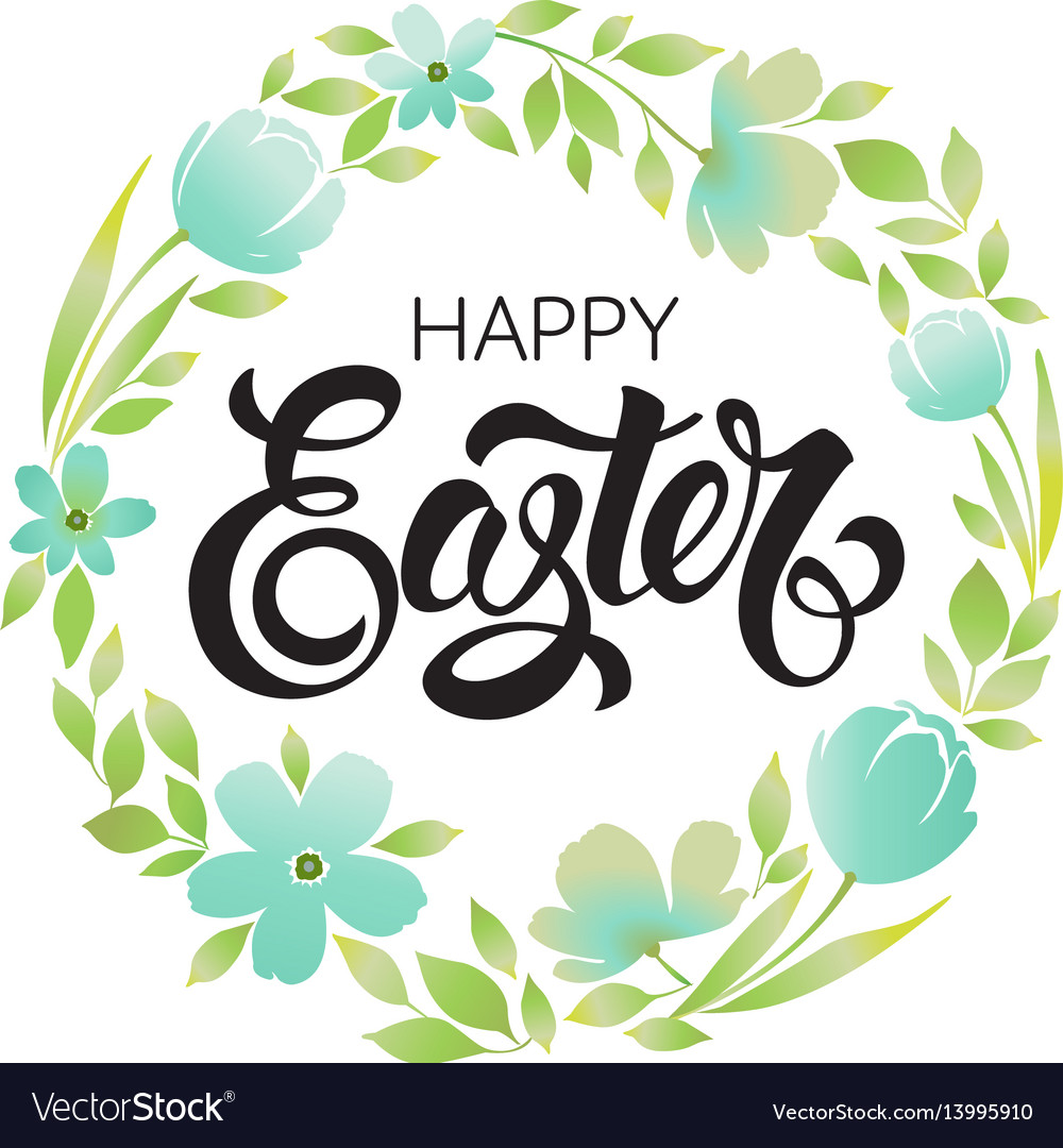 Happy easter print vector image