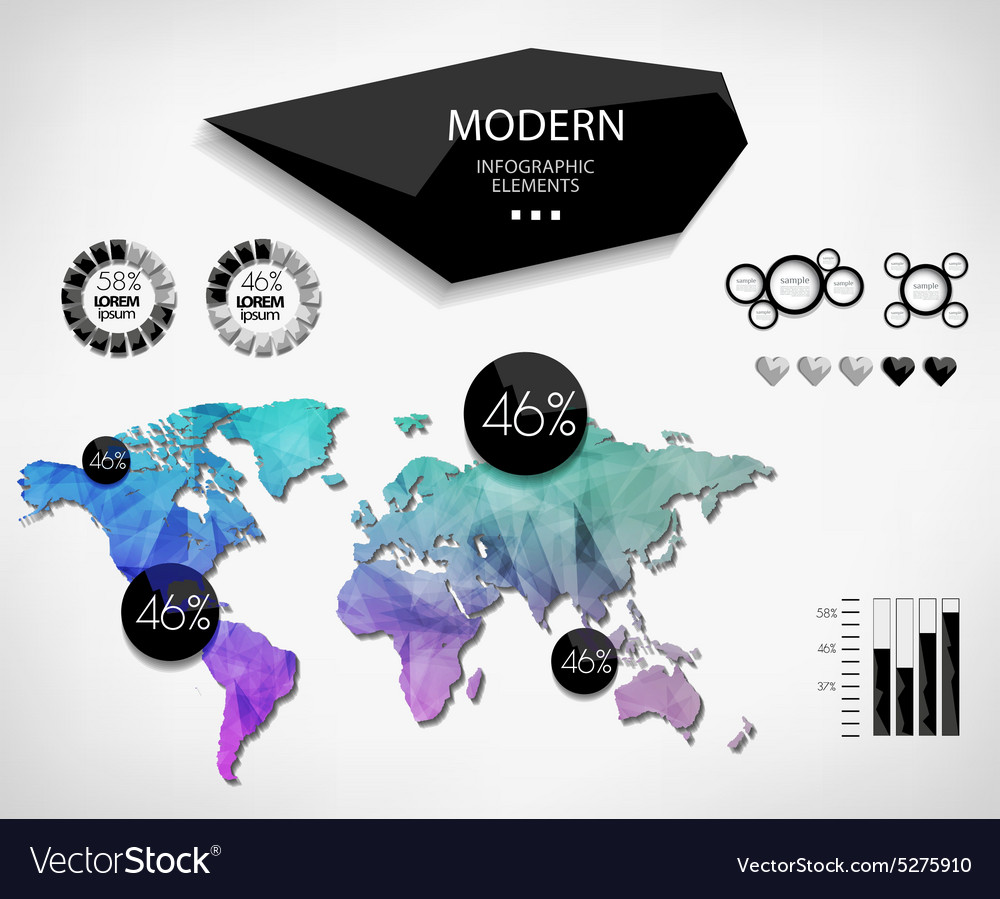 World map infographic template royalty free vector image world map infographic template vector image gumiabroncs Image collections