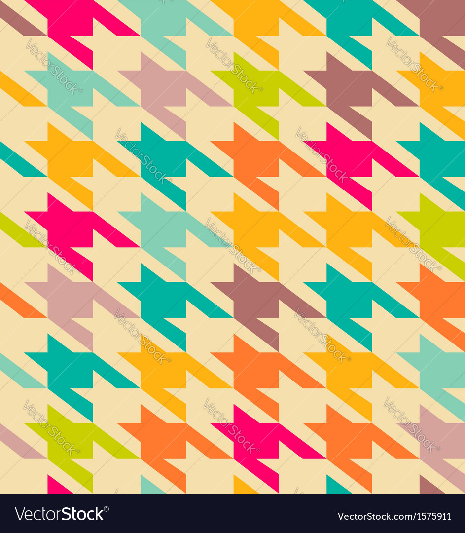 Houndstooth trendy pattern vector image