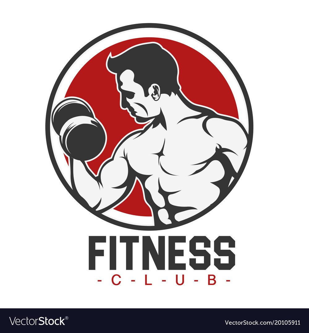 Sport fitness club human fitness background vector image