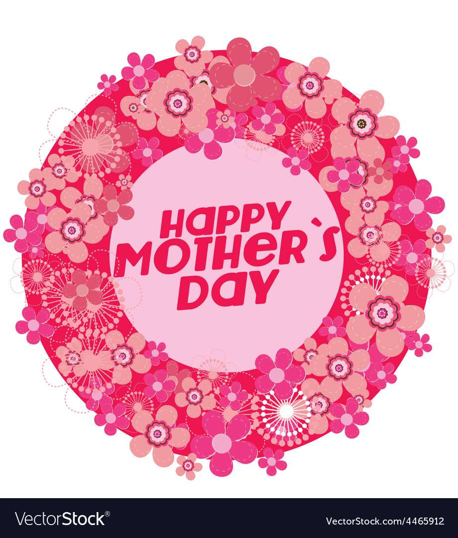 Motherss Day background vector image