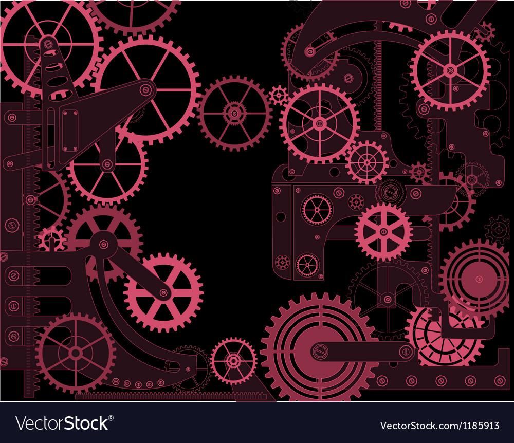 Elements of mechanism vector image