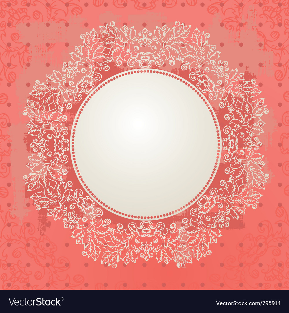 Abstract grunge design with arabesques vector image