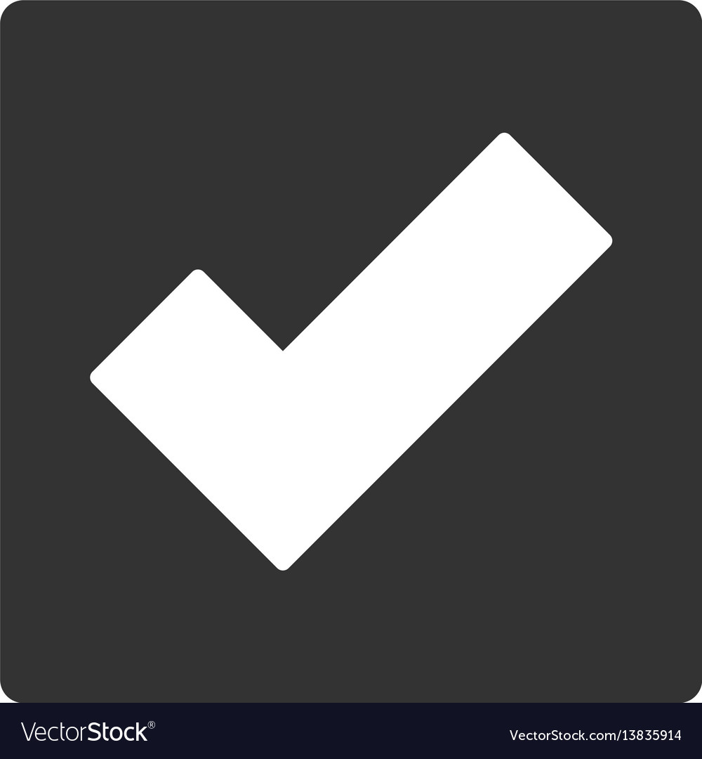 Check flat icon vector image