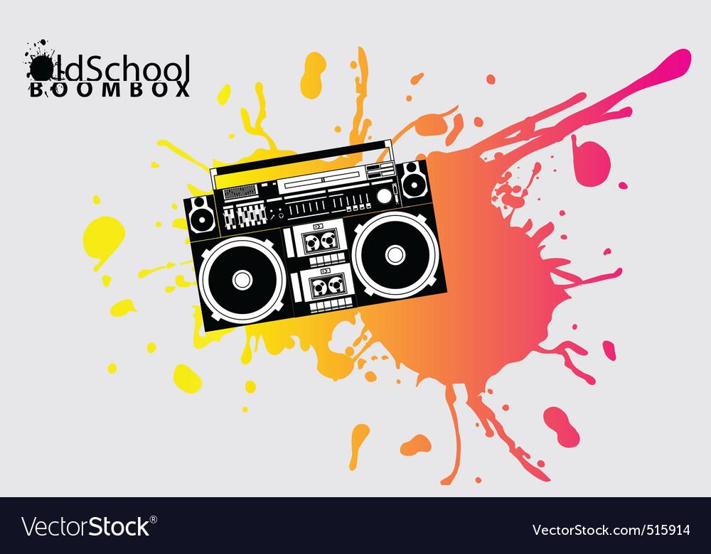 Old school boombox vector image