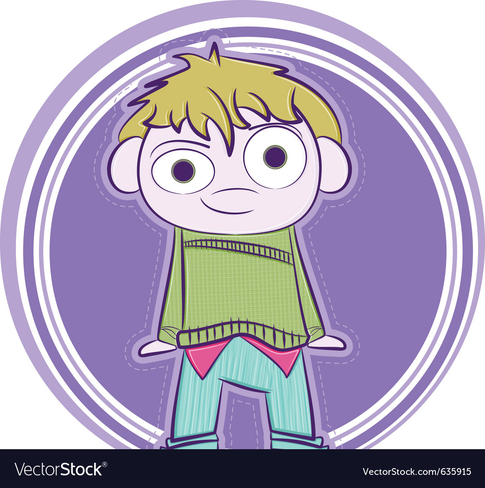 Happy little boy vector image