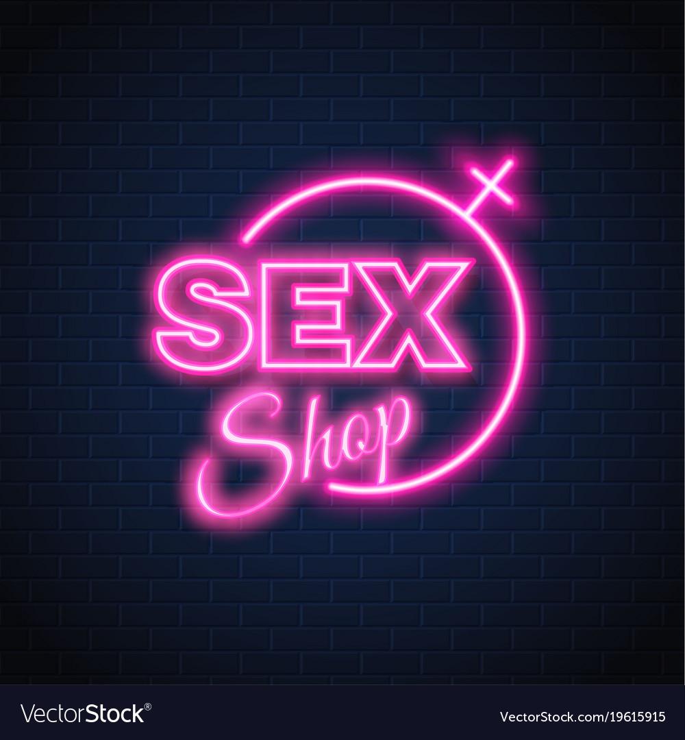 Sex shop neon sign gender woman symbol royalty free vector sex shop neon sign gender woman symbol vector image buycottarizona Choice Image
