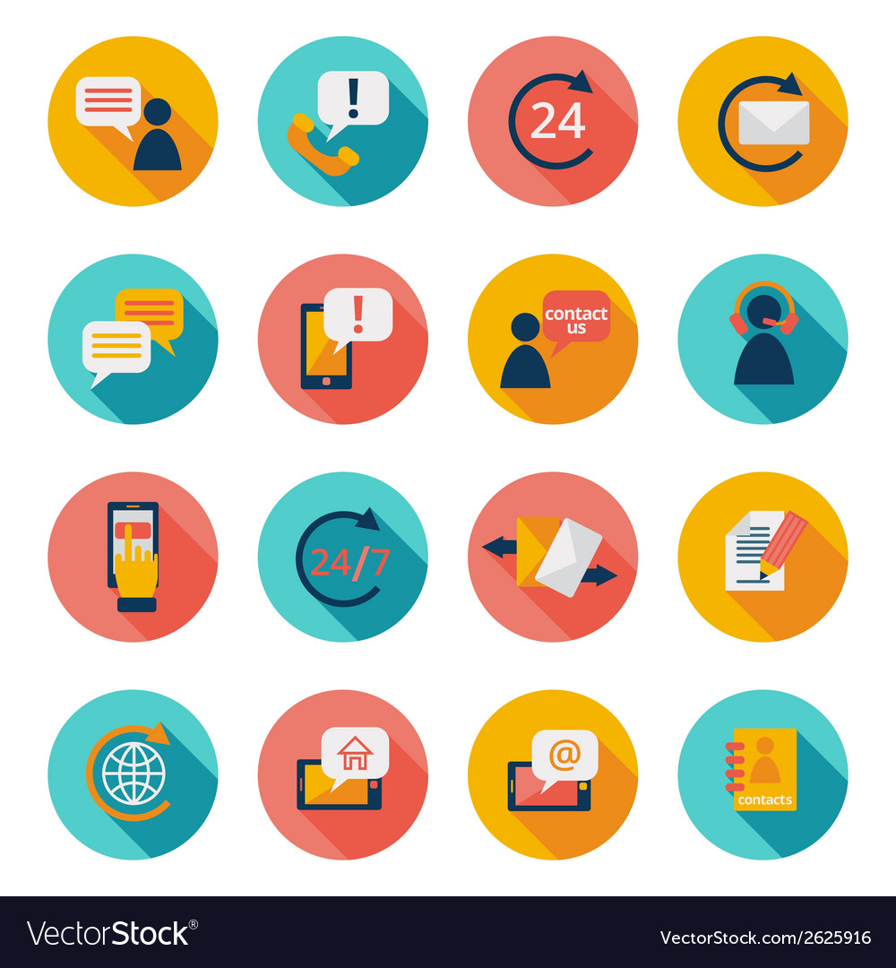 Contuct us icons vector image