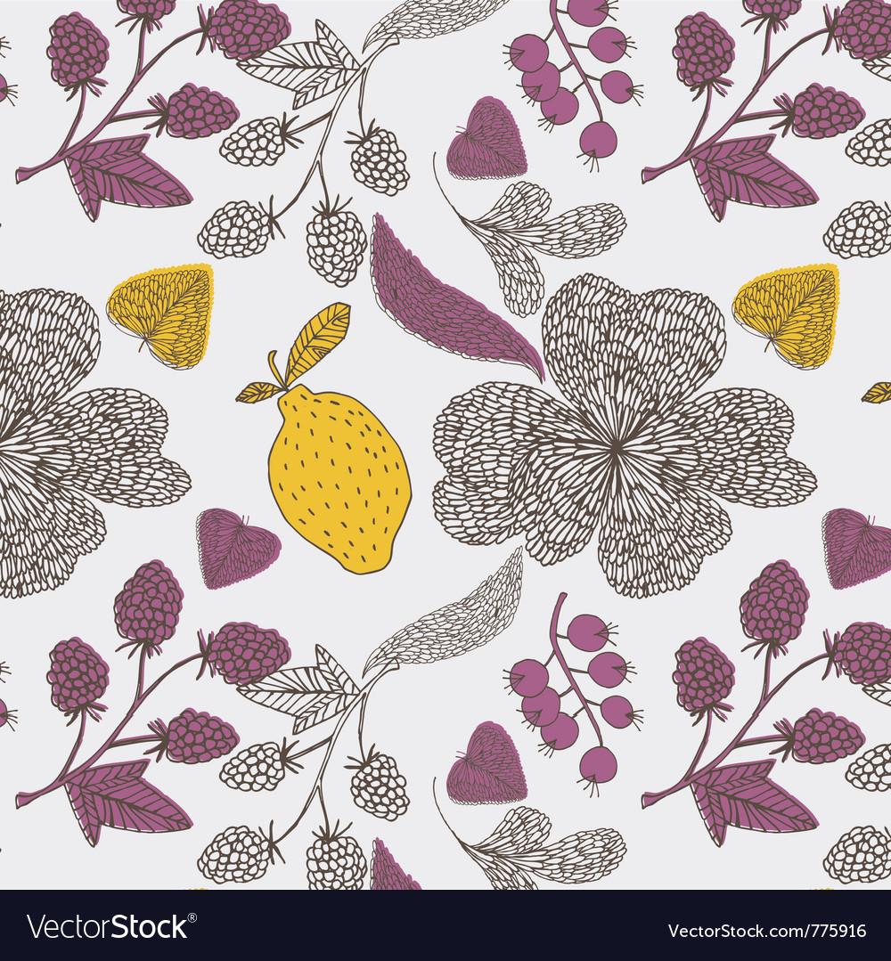 Lemon tree abstract vector image