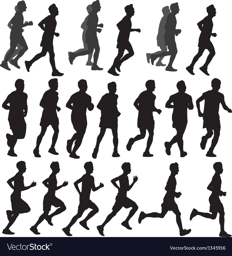 Run Silhouette vector image