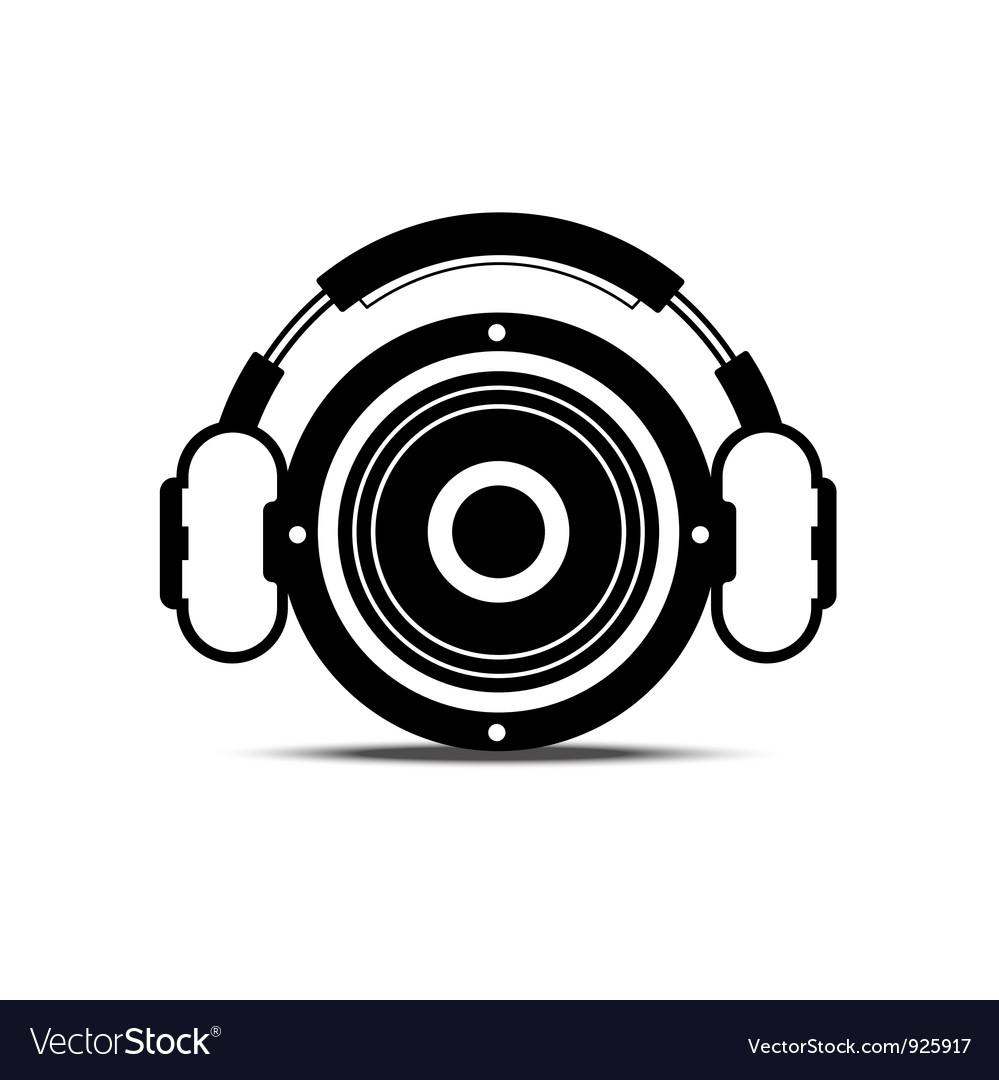 Headphone and speaker vector image
