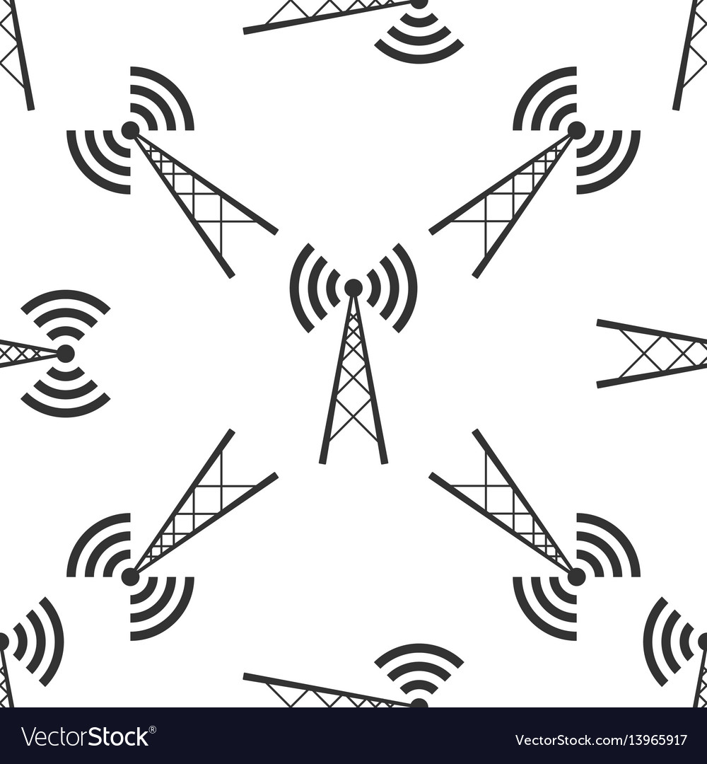 Antenna icon seamless pattern vector image