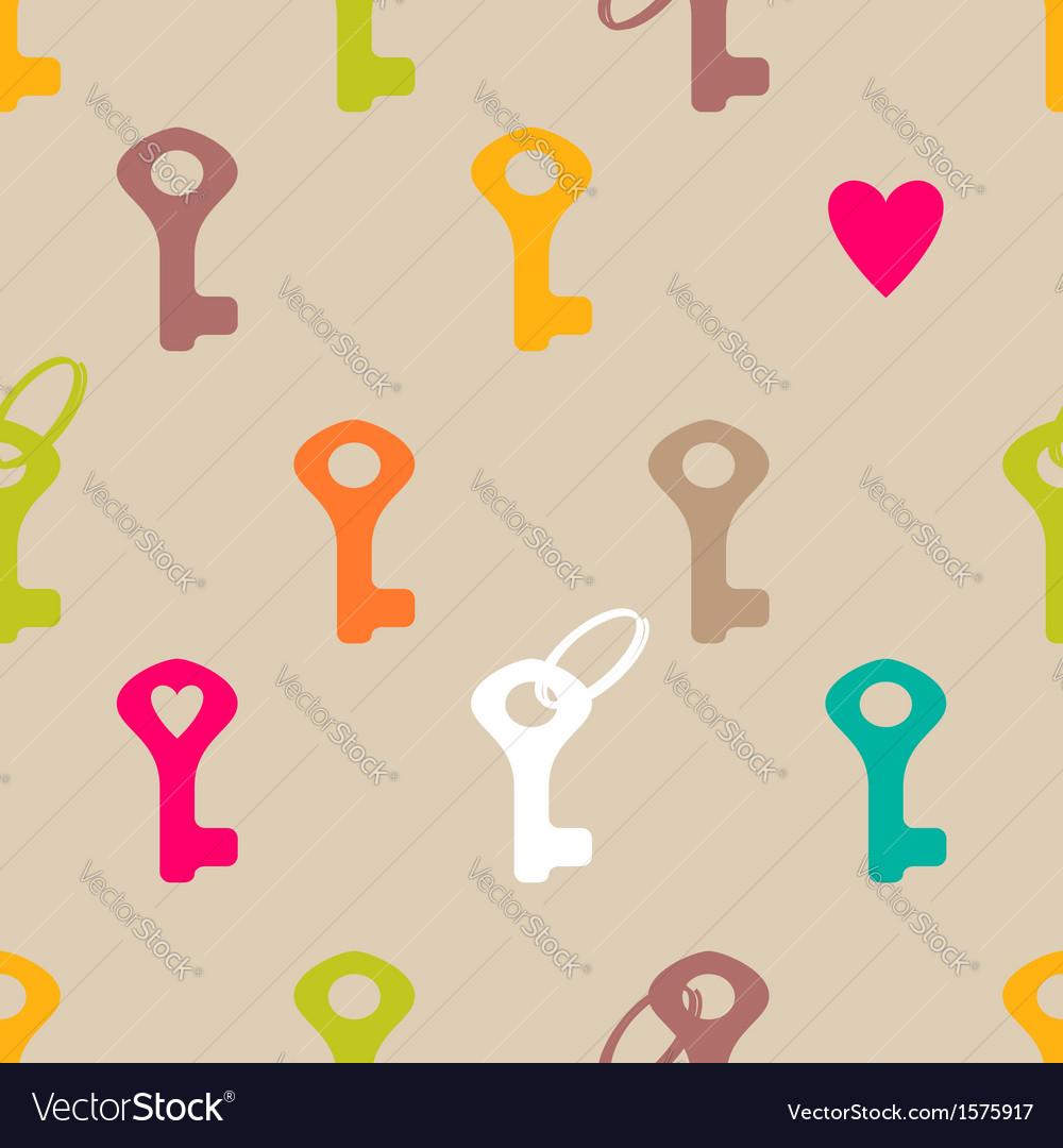 Key pattern vector image