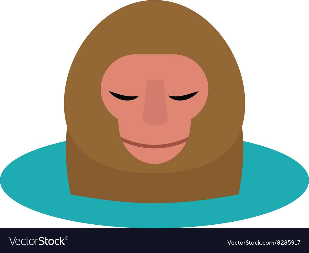 Monkey head cartoon style vector image