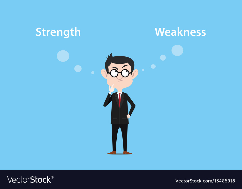 A man thinking about strength or vector image