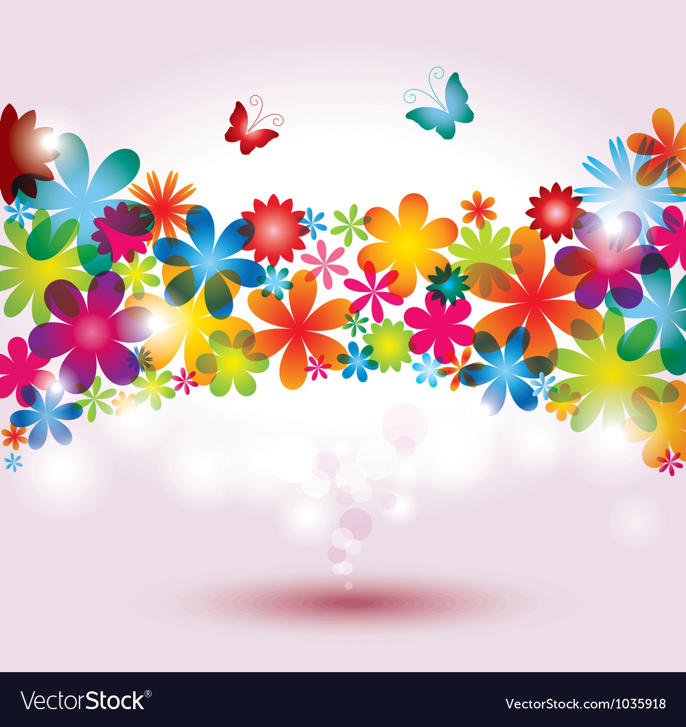 Colorful flower background vector image