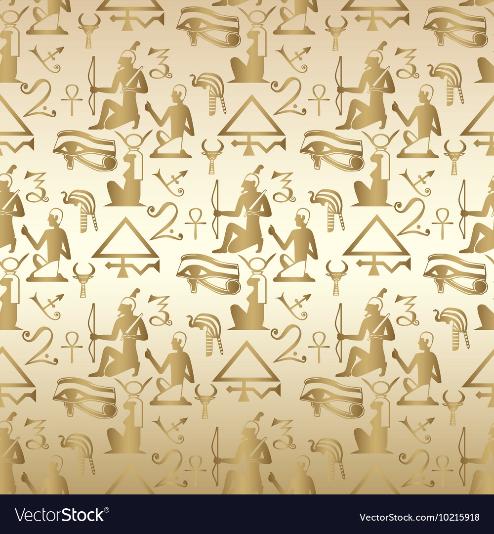 Egyptian seamless pattern background wallpaper vector image