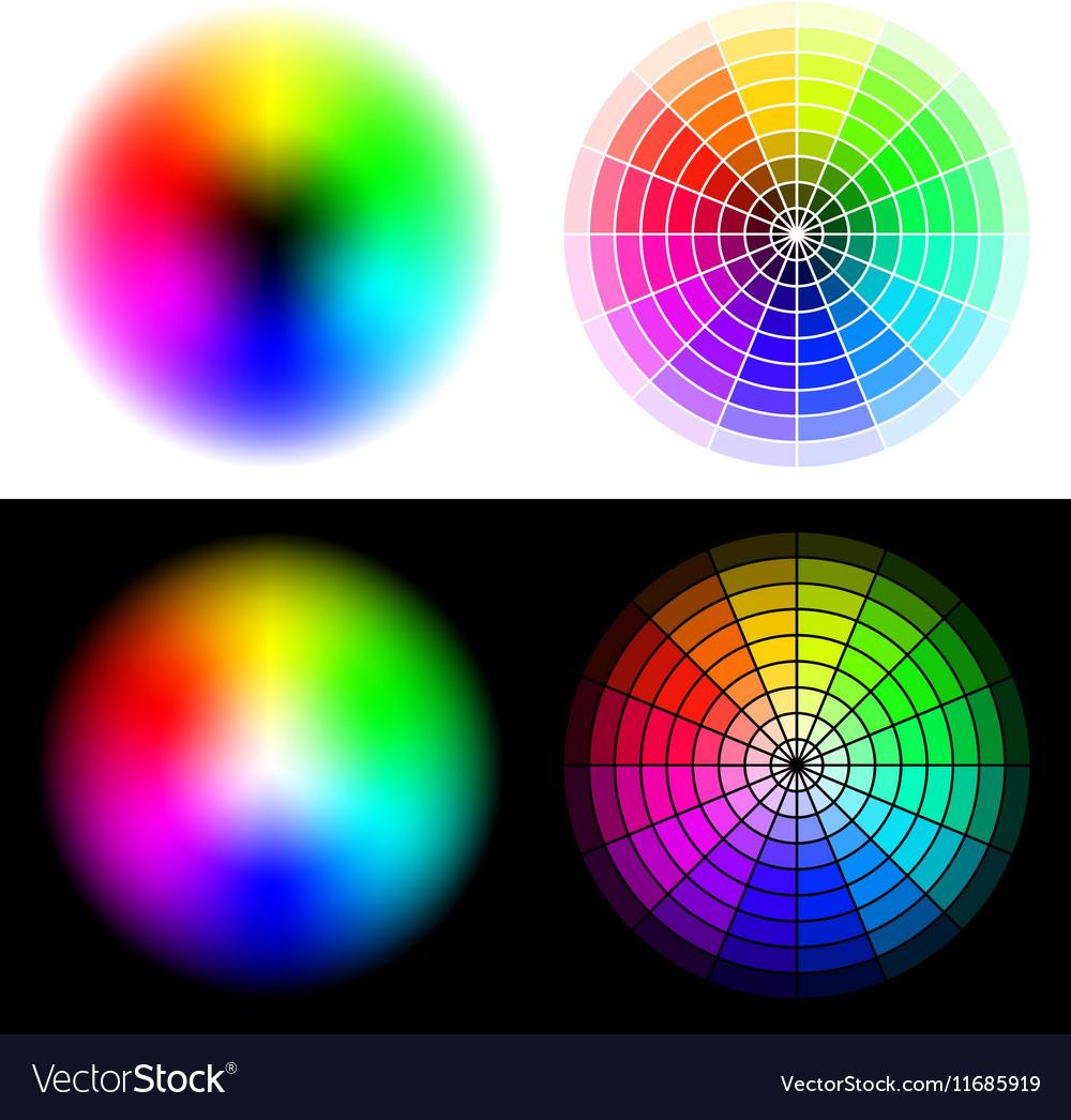 Hsv color wheels royalty free vector image vectorstock hsv color wheels vector image geenschuldenfo Choice Image